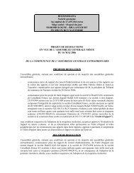 Projets de résolutions - Le Groupe - Boursorama