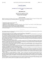 Convocation Assemblée générale ordinaire - Le Groupe - Boursorama