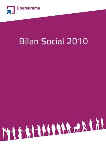 Bilan Social 2010 - Boursorama Groupe