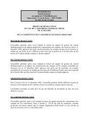 Projets de résolutions - Boursorama Groupe