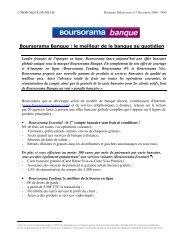 Lancement de l offre bancaire - Le Groupe - Boursorama