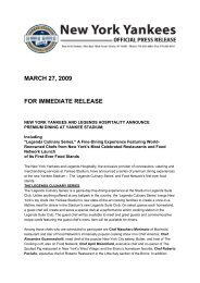 March 27, 2009 for immediate release - Nymag