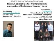 Rubidium atomic hyperfine filter for amplitude manipulation of ...