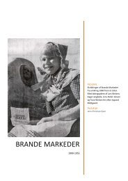 beskrivelser af Brande Markeder - Brande Historie