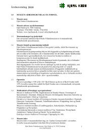 Årsberetning 2010 - Hjerl Hede