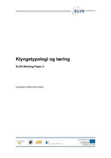 Niels Henrik Helms (2010): Klyngetypologi og læring - Om ELYK ...