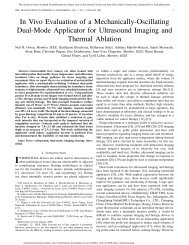In Vivo Evaluation of a Mechanically-Oscillating Dual - UCSF ...