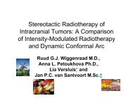 Stereotactic Radiotherapy of Intracranial Tumors:  Comparison of ...