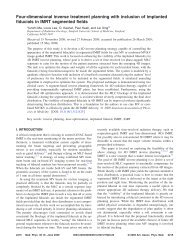 Four-dimensional inverse treatment planning with inclusion of ...