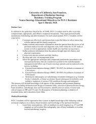 PG2 - UCSF Radiation Oncology - University of California, San ...