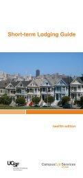 Short-term Lodging Guide - University of California, San Francisco