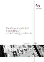 Panelmedlemmernes evaluering af ... - ACE Denmark