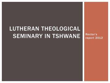 Rector's Report 2012 KZN Pella