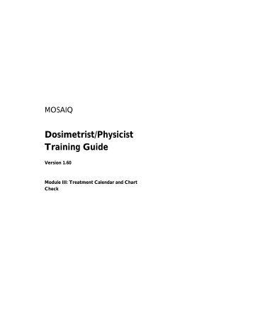 Dosimetrist/Physicist Training Guide - UCSF Radiation Oncology