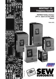 MOVITRAC® 31.. Frequency Inverter PROFIBUS ... - SEW Eurodrive
