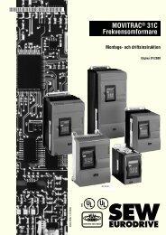 MOVITRAC Frekvensomformare UL® UL® - SEW Eurodrive