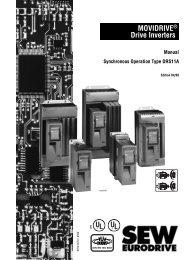 MOVIDRIVE® Drive Inverters - SEW-Eurodrive