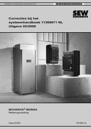 MOVIDRIVE® MDR60A Netterugvoeding - SEW Eurodrive