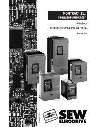 MOVITRAC® 31.. Frequenzumrichter Handbuch ... - SEW Eurodrive