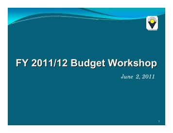 FY 2011/12 Budget Workshop - City of Sunnyvale