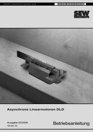 Asynchrone Linearmotoren DLD - SEW Eurodrive