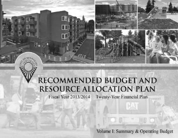 Part II - Budget Summary & Financial Plans - City of Sunnyvale ...