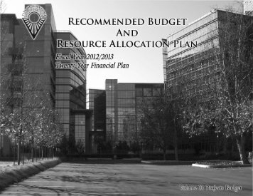RECOMMENDED BUDGE RCE ALLOCATI - City of Sunnyvale ...