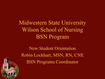 New Student Orientation - The FreeZone : Midwestern State University