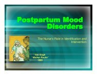 Postpartum Mood Disorders - The FreeZone : Midwestern State ...