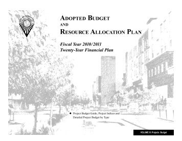 ADOPTED BUDGET RESOURCE ALLOCATION PLAN - City of ...