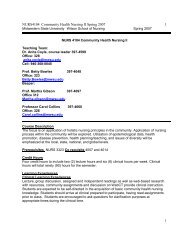 NURS4104 Community Health Nursing II Spring 2007 1 1