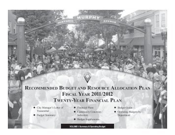 20-Year Resource Allocation Plan - City of Sunnyvale
