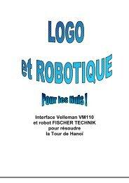 Interface Velleman VM110 et robot FISCHER TECHNIK ... - Logoplus