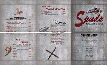 Spuds Dinner Menu Trifold 07-2011.indd