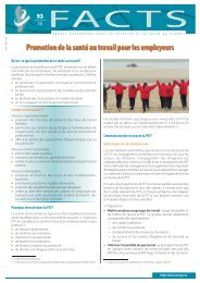 Promotion de la santé au travail pour les employeurs - Europa