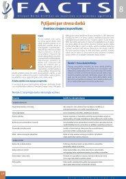 Pētījumi par stresu darbā - European Agency for Safety and Health ...