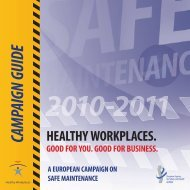 Campaign Guide - European Agency for Safety and Health at Work ...
