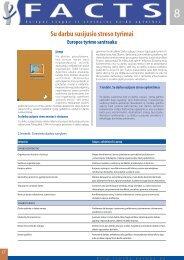 Su darbu susijusio streso tyrimai - European Agency for Safety and ...