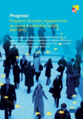 Programul UE pentru ocuparea forţei de muncă şi ... - Europa
