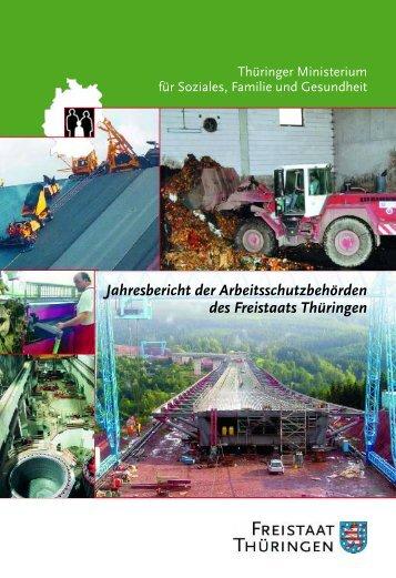 Jahresbericht der Arbeitsschutzbehörden des Freistaats Thüringen