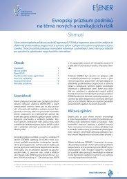 Shrnutí Evropský průzkum podniků na téma nových a ... - Europa