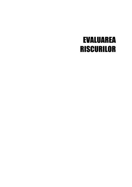 evaluarea riscurilor - European Agency for Safety and Health at ...