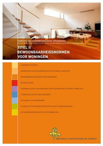 titel ii bewoonbaarheidsnormen voor woningen - Ruimtelijke ...