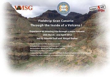 Fieldtrip Gran Canaria: Through the Inside of a Volcano !