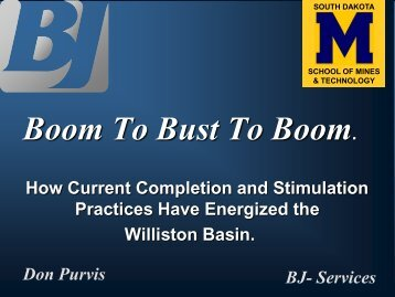 Bakken NDGS PResentation 2010 - South Dakota School of Mines ...