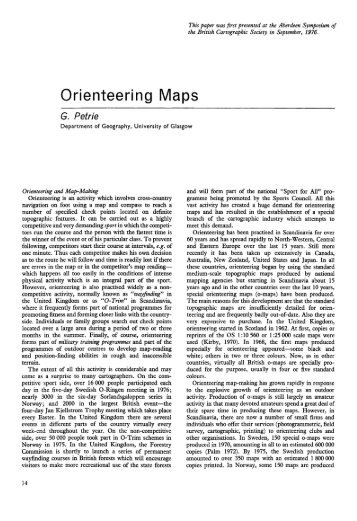 Orienteering Maps - University of Glasgow