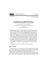 minimalizacja nakładów pracy w technologii produkcji marchwi
