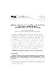 charakterystyka wyposażenia technicznego i technologii uprawy roli ...