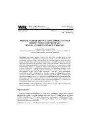 modele gospodarstwa jako źródło danych do optymalizacji produkcji ...