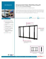 Universal 2x2 Video Wall Mounting Kit - Peerless-AV